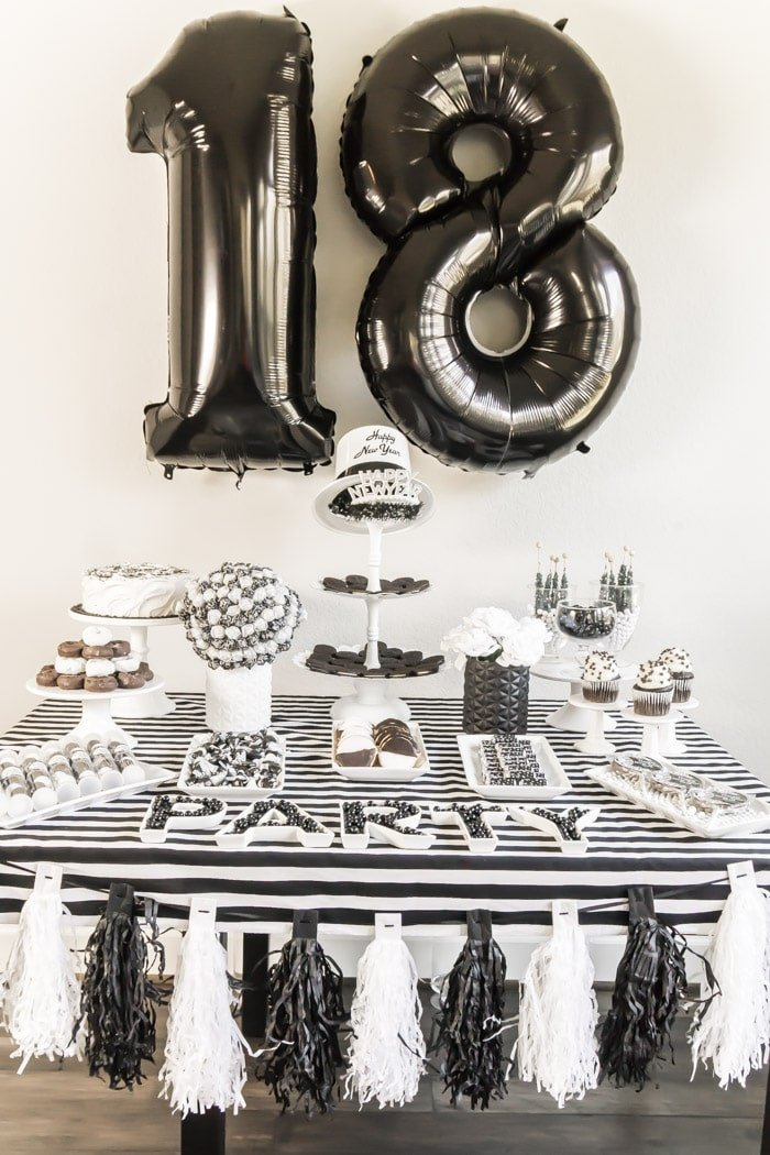 The Best Black And White Party Ideas For New Year 39 S Play