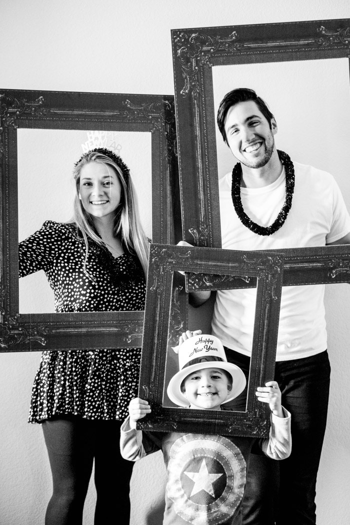 Try a black and white photo booth this year