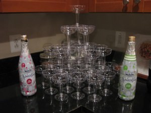 new years eve sparkling cider tower