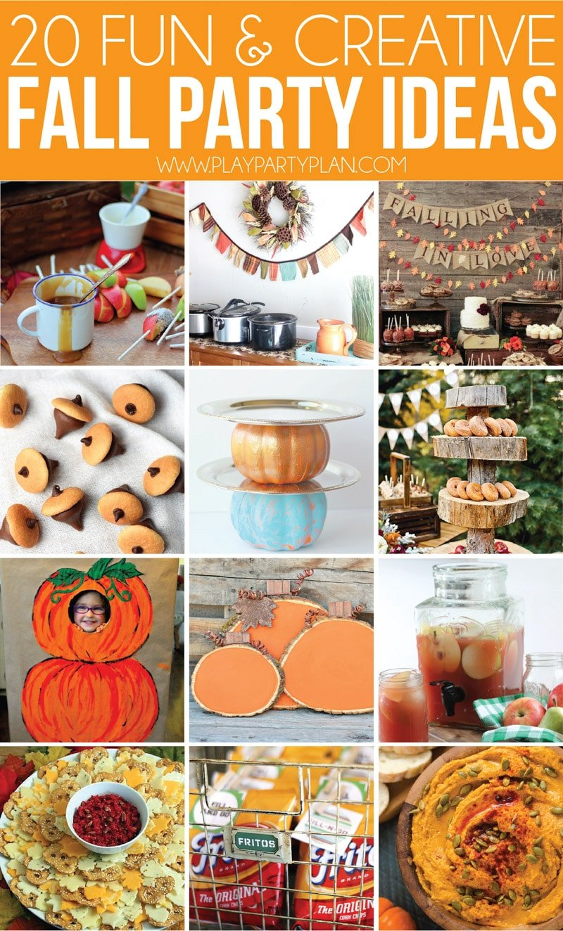 Tons of fall party ideas, fall party themes, and more