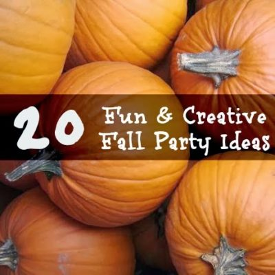 20 Fun and Creative Fall Party Ideas