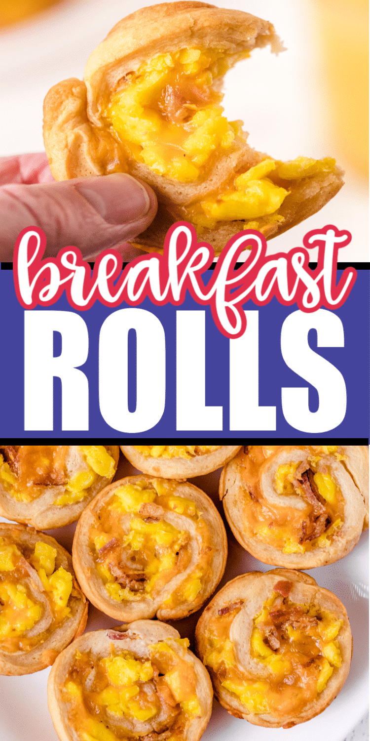 Two pictures of breakfast rolls