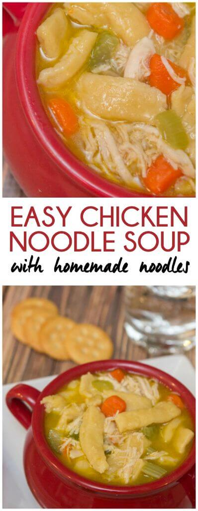 Easy chicken noodle soup with homemade egg noodles recipe from ...