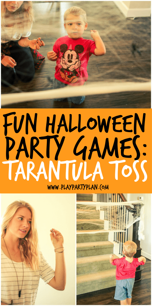Fun Halloween Party Games - Tarantula Toss