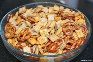 Bowl of Chex Snack Mix