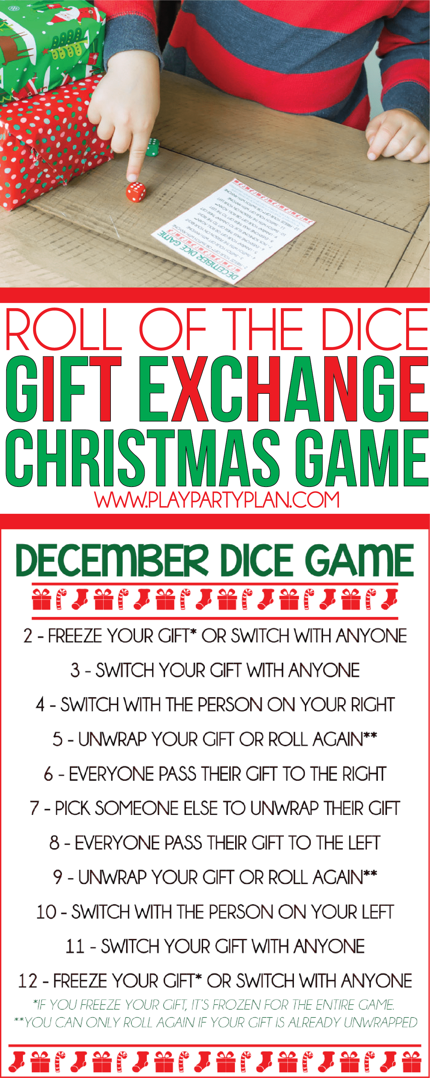 dice gift exchange games youll love
