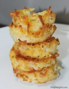 Make this simple hash brown cups recipe for your next party!