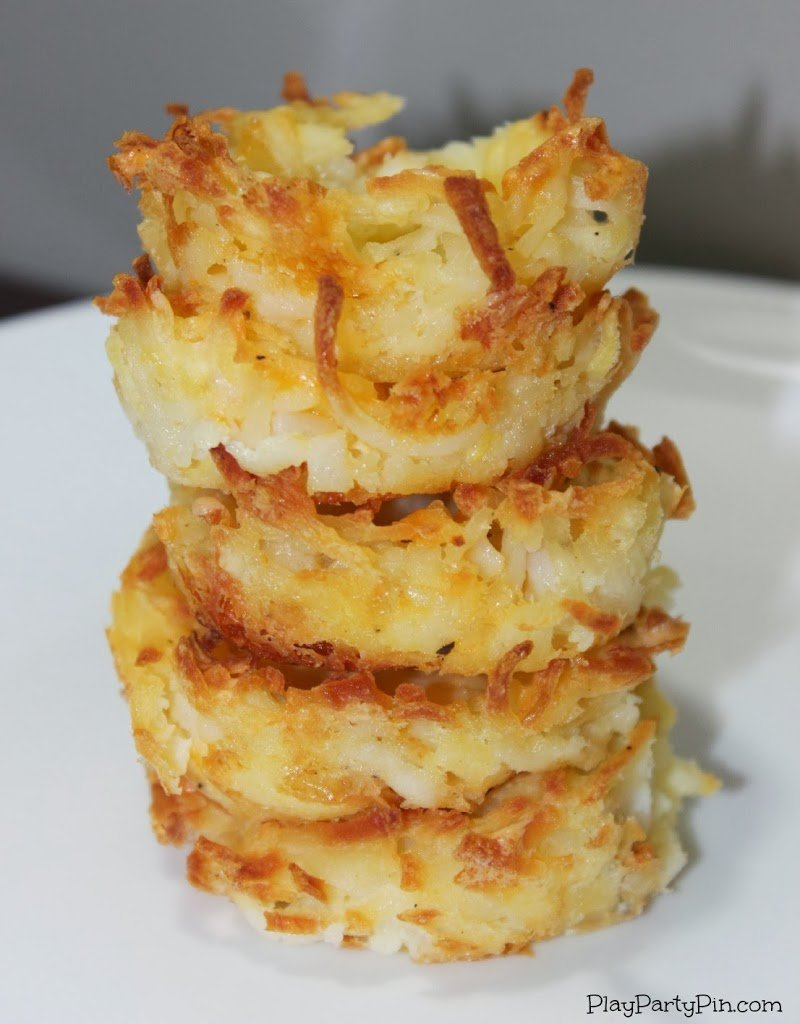 Hash brown cups, a great game day appetizer idea