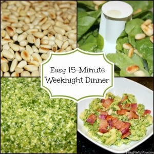 Simple spinach and pine nut pesto