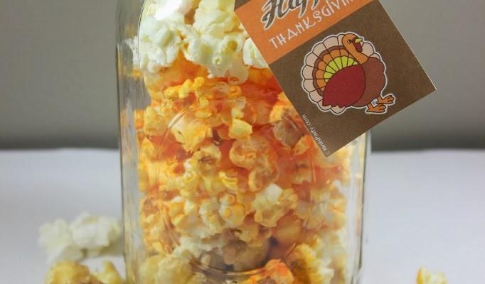 Thanksgiving Popcorn Jars and A Blog Hop