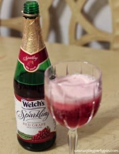 Welch's red grape sparkling cider