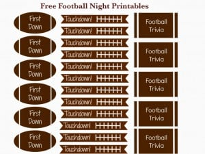 Free Football Date Night or Party Printables