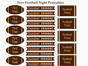 This is an image of Unforgettable Free Football Printables