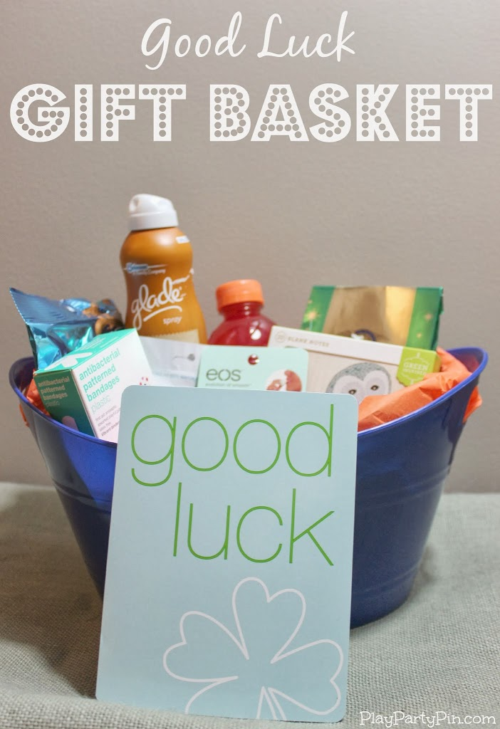 Good luck gift basket idea by playpartypincom  giftbasket t6T5b3LT
