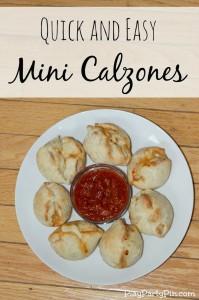 Quick and easy mini calzones