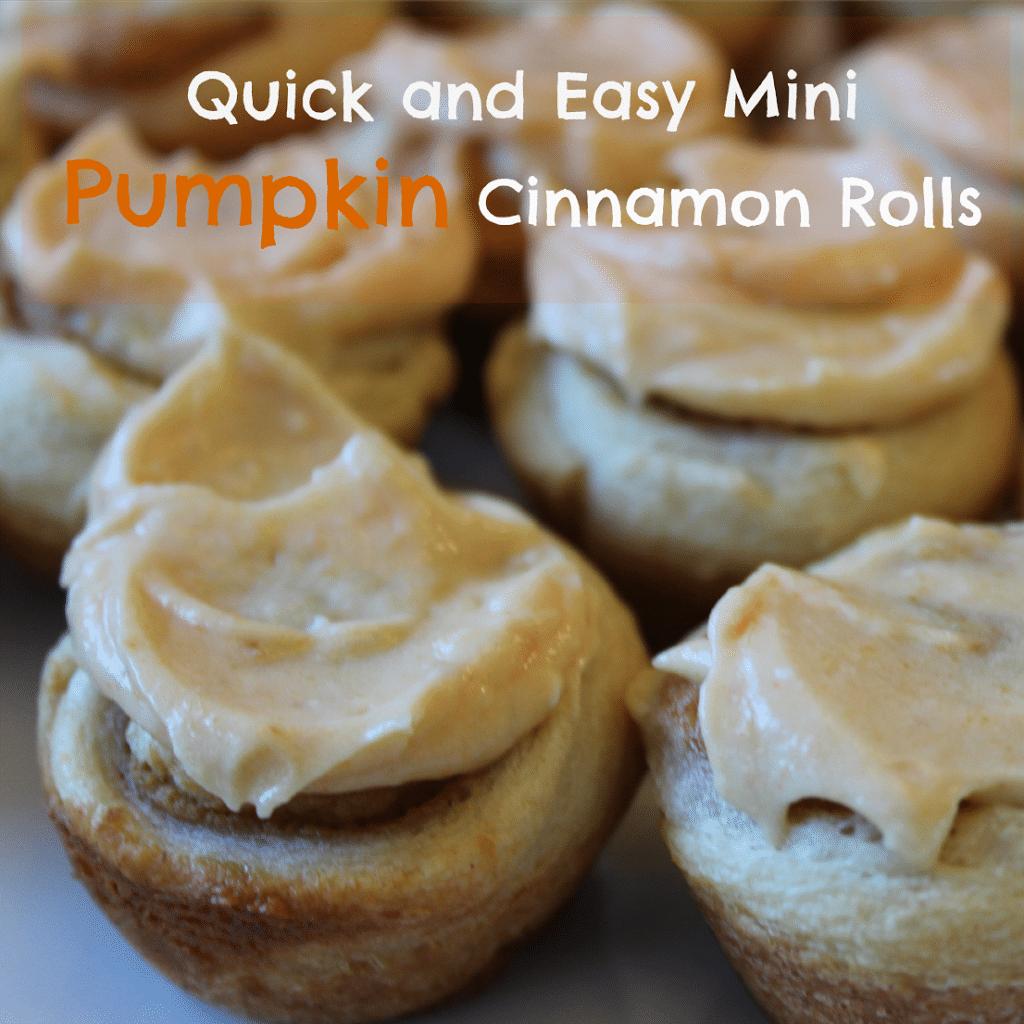Mini Pumpkin Cinnamon Rolls - Play.Party.Pin