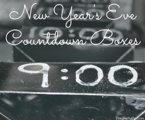 2013 New Year's Eve Countdown boxes - games in each one from playpartypin.com #NewYearsEve #Games #Party