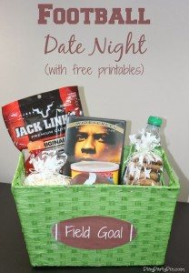Football Date Night or Party Idea with Free Printables #KYDateNight #shop #cbias #date #party #football #freeprintable
