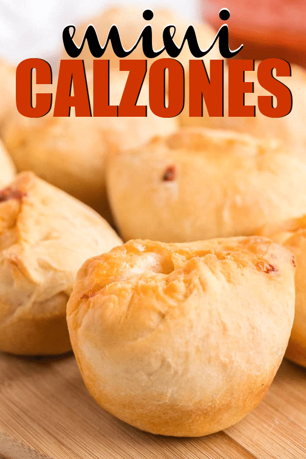 These easy calzones are so yummy and great for a party appetizer! Add your own favorite toppings like pepperoni or buffalo chicken for one delicious appetizer the entire group will love!