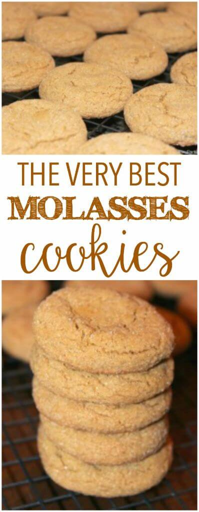 These molasses cookies are one of the best cookie recipes ever, definitely one of my favorite Christmas cookies!