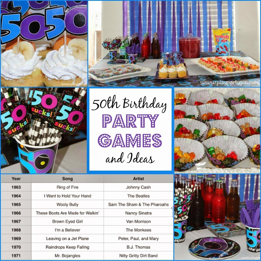 50th birthday party games and ideas for 50th birthday decoration ideas