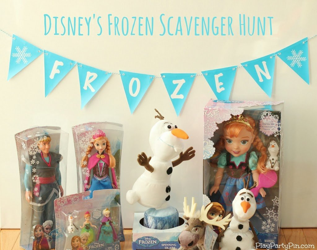 Disney's FROZEN scavenger hunt for kids, perfect for a FROZEN party #FrozenFun #shop #cbias