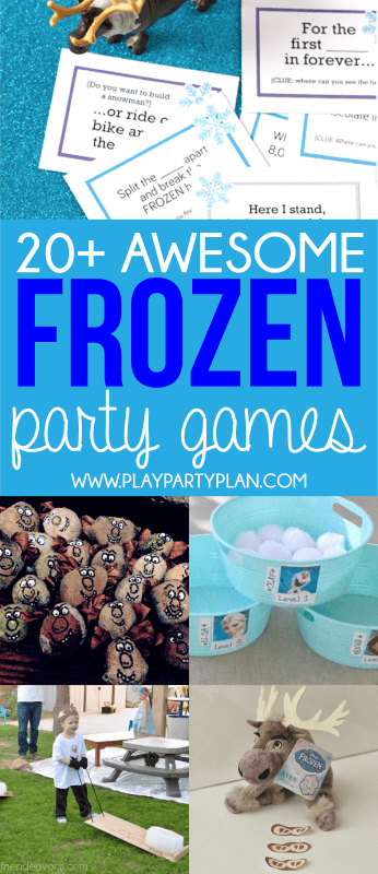 Frozen games and Frozen party games for every age, every party, and every occasion!