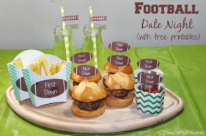 Football Date Night or Party Idea with Free Printables
