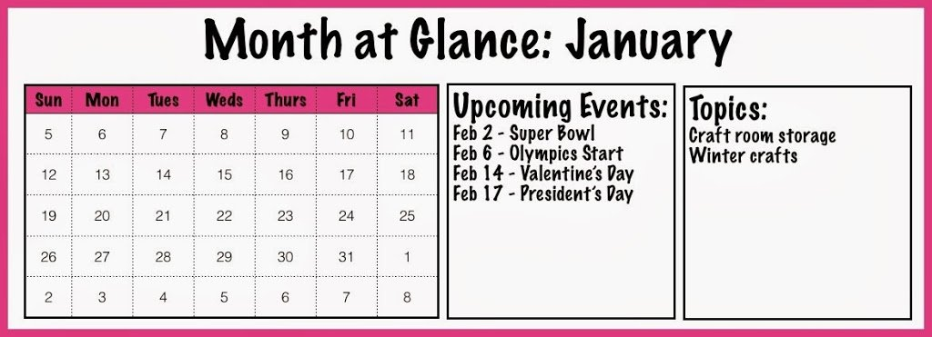 Free printable month at a glance blog planner page to help get organized for 2014 #blog #planner