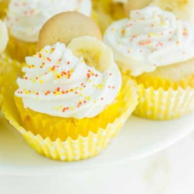 Easy Banana Pudding Cupcakes
