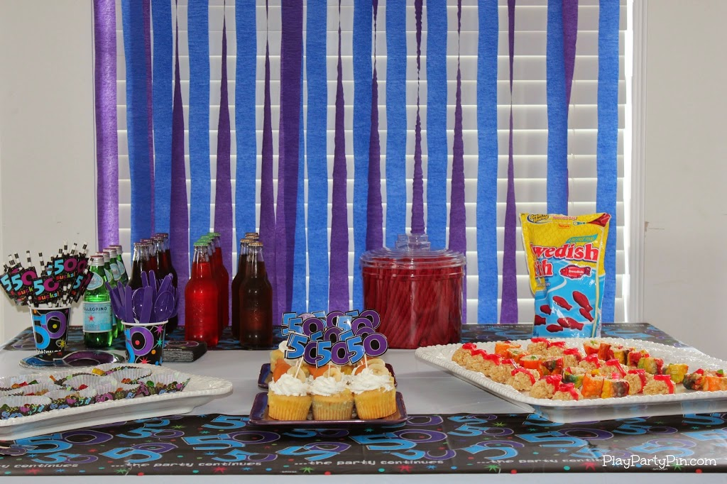 50th birthday party games and ideas for Adult birthday decoration ideas