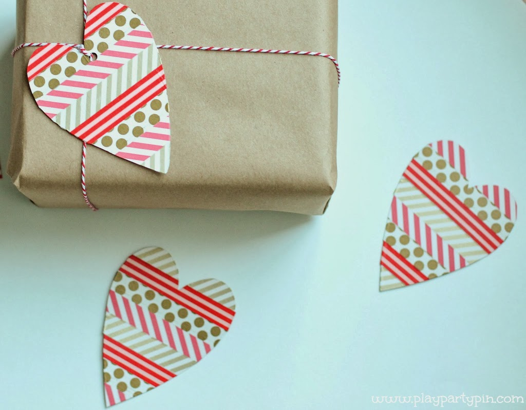 Gift Box With Three Tags