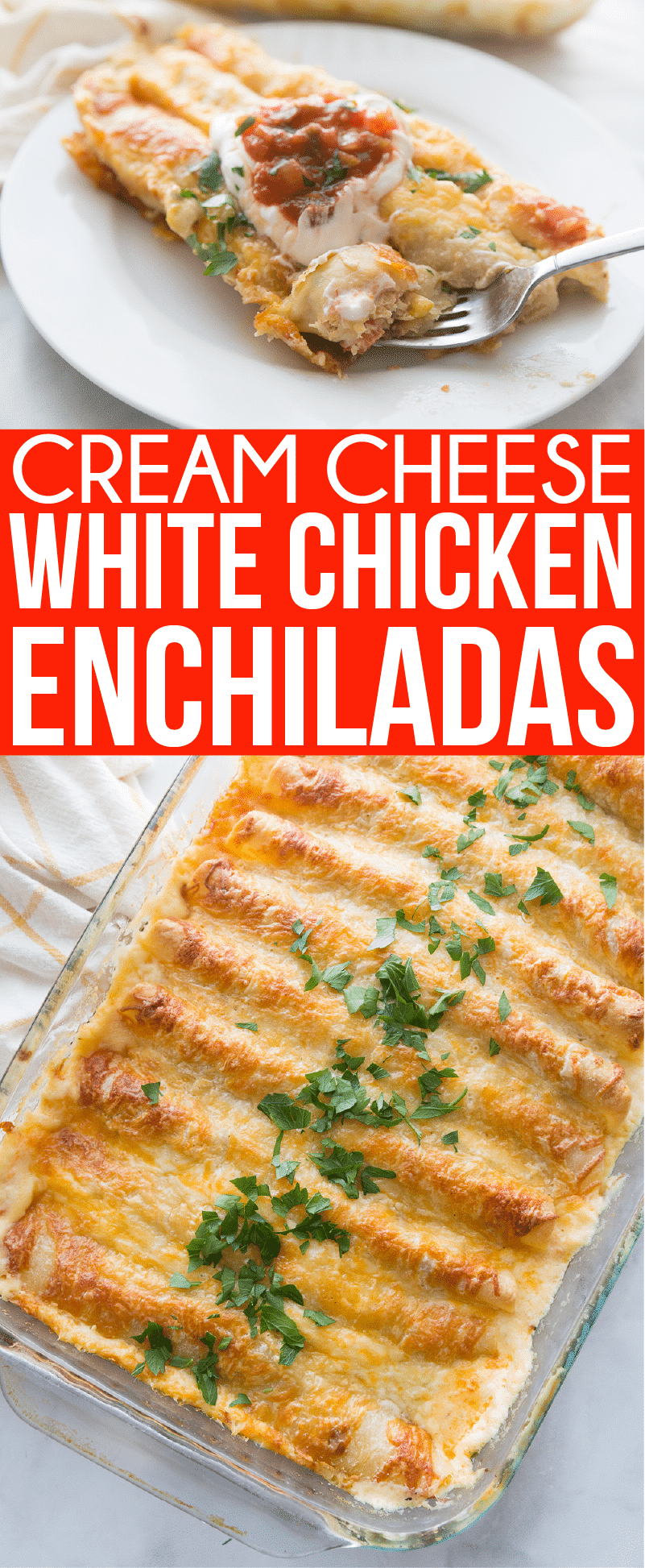 Pictures of white chicken enchiladas