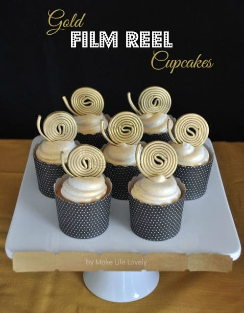 Movie themed cupcakes make great Oscar party food
