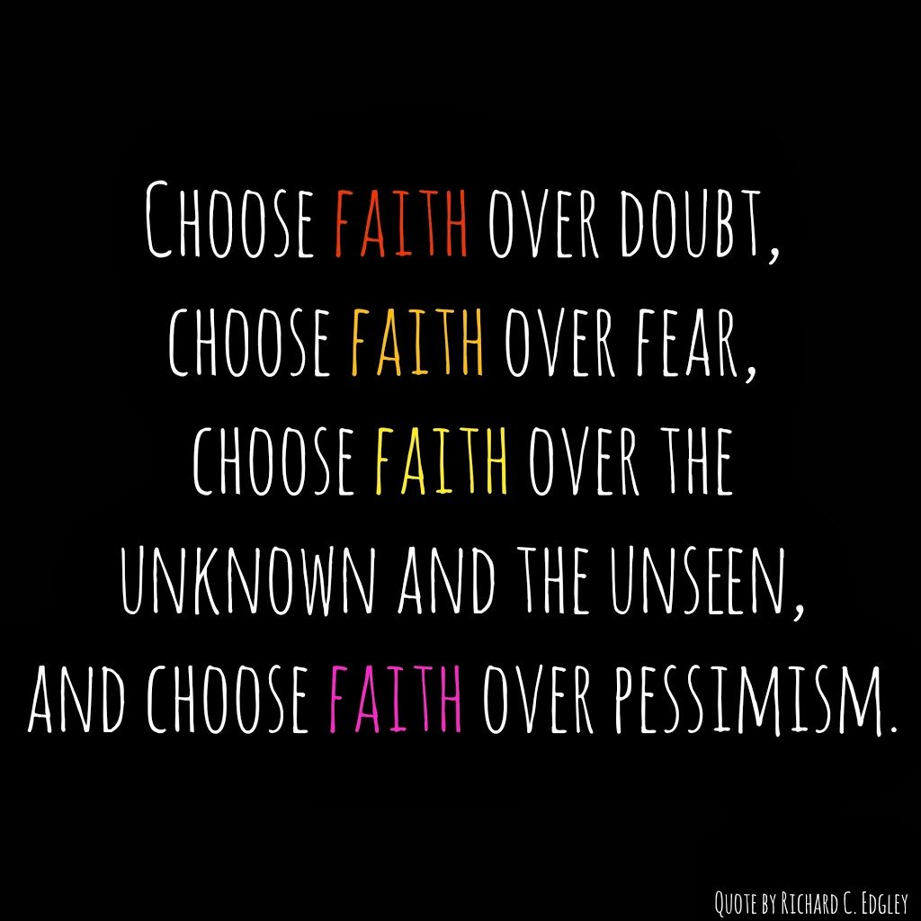 Fear Quotes Choosing Faith Over Fear  Play.party.plan