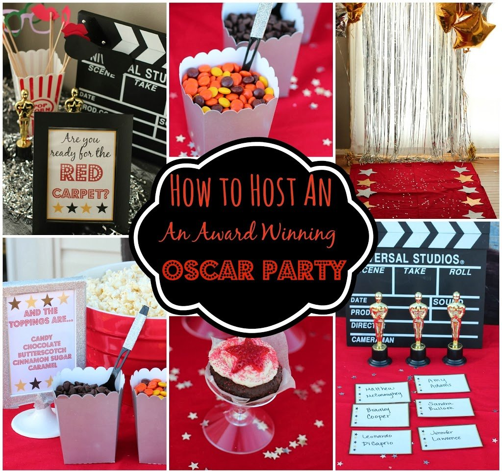 Oscar party ideas for Awards decoration