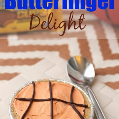 Basketball Dessert Using Butterfinger Cups
