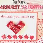 Free Printable Starburst Valentines