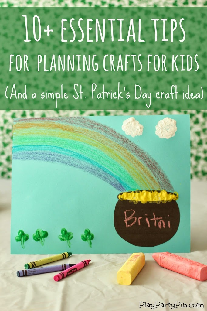 10+ essential tips for planning crafts with kids from playpartypin.com #ColorfulCreations #crafts #kids #StPatricksDay
