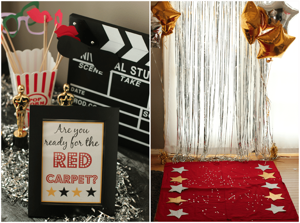 Beautiful Oscar Themed Party Decoration Ideas Part - 7: Great Oscar Party Ideas And Games From Playpartyplan.com #party #Oscars  #games