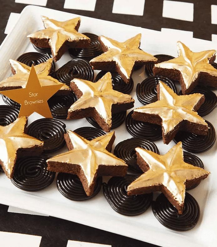 Oscar star brownies and other Oscar party food