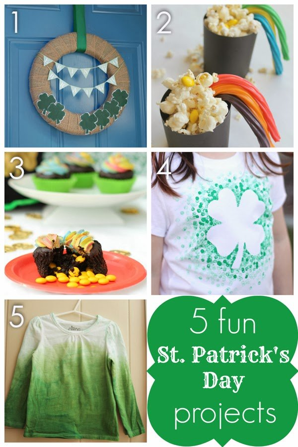 5 Fun and Easy St. Patrick's Day Projects from playpartypin.com #StPatricksDay #crafts