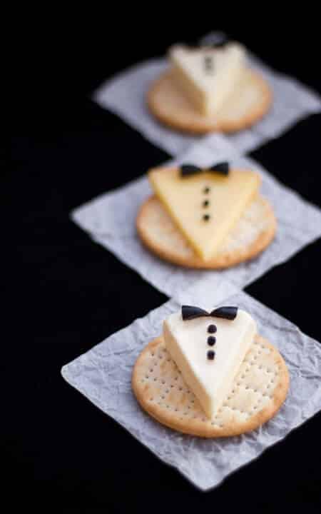 Tuxedo cheese makes great Oscar party ideas