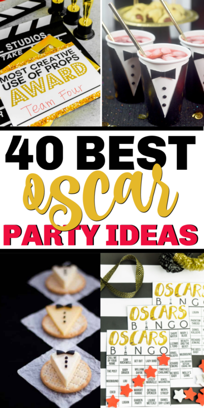 The best Oscar party food including everything from appetizers to glitzy desserts and drinks!