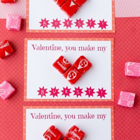 Three Starburst valentines