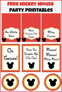 Mickey Mouse Clubhouse Party Ideas & Free Mickey Mouse ...