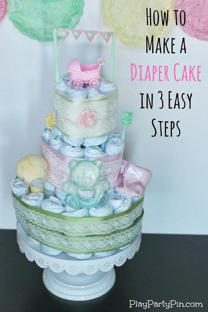 Easy 3 Step Diy Paper Bowls Kids Craft Idea: How To Make A Diaper Cake With Step By Step Diaper Cake