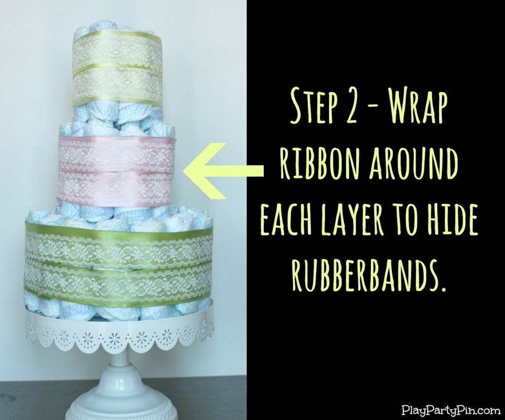 How To Make A Simple Diaper Cake Step By Step