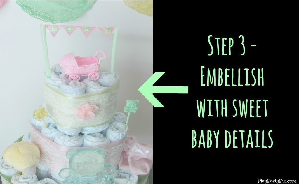 how to build a diaper cake