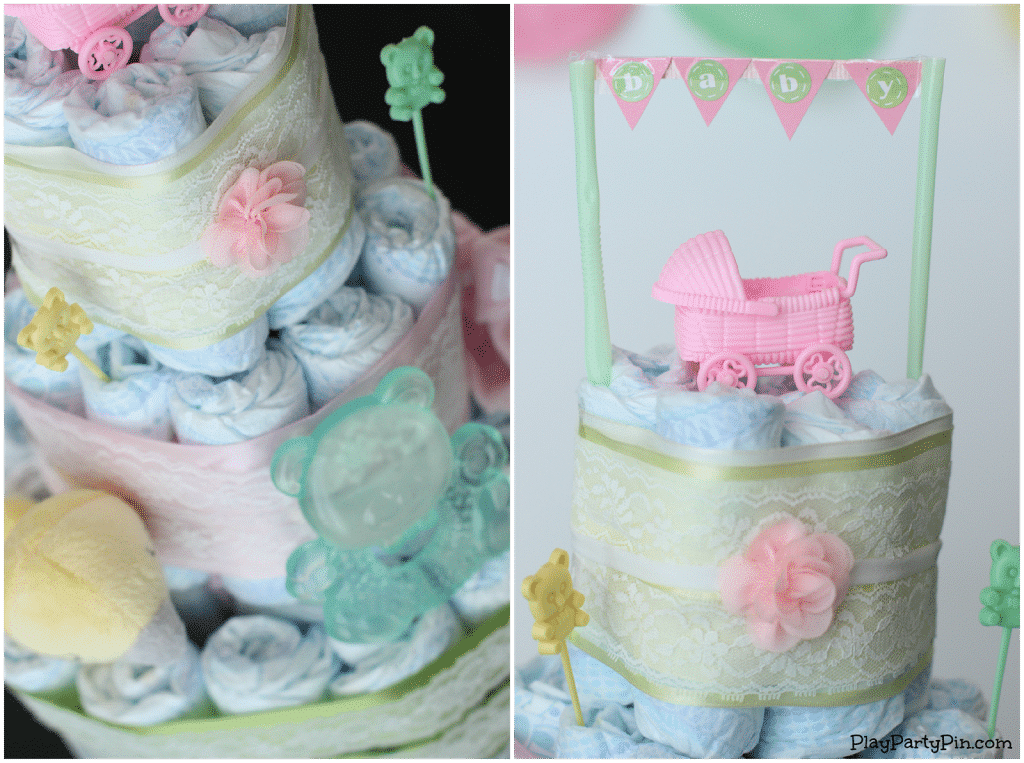Instructions For Making A Diaper Cake For Baby Shower